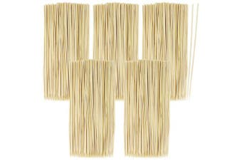 (0500 Pieces) - COM-FOUR® 500x skewers Made of Bamboo Wood - 20 cm Long skewers - Vegetable skewers in a Set (0500 Pieces)