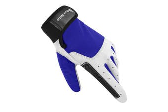 (XLarge, F Dark Blue) - Brace Master Sailing Gloves Men Women for Sailing, Fishing, Boating, Kayaking, Surfing, Canoe Padding, Dinghy and Water Sports, Leather in Palm to Enhance Gripping