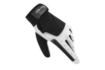 (XLarge, F Black) - Brace Master Sailing Gloves Men Women for Sailing, Fishing, Boating, Kayaking, Surfing, Canoe Padding, Dinghy and Water Sports, Leather in Palm to Enhance Gripping