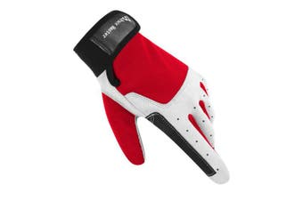 (XLarge, F Red) - Brace Master Sailing Gloves Men Women for Sailing, Fishing, Boating, Kayaking, Surfing, Canoe Padding, Dinghy and Water Sports, Leather in Palm to Enhance Gripping