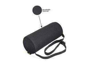 (Firm Roll) - Lumbar Support Roll Pillow With (Firm Density) Cool Ventilation Technology, and Clip to Strap to the Chair, Sciatica and Pain Relief