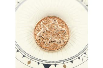 (Shiny Copper) - Bezelry 10 Pieces Celtic Horses Metal Shank Buttons. 25mm (1 inch) (Shiny Copper)