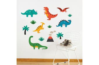 (Dinosaurs) - Petit Collage Dinosaurs Wall Decal