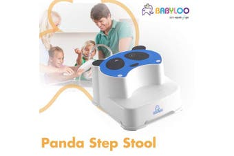 (Blue) - Babyloo Panda Step Stool Easy to Use Potty Training Stool for Kids (Blue) …
