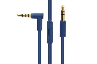 (dark blue) - Replacement Audio Cable Cord Wire with in-line Microphone and Control for Beats by Dr Dre Headphones Solo/Studio/Pro/Detox/Wireless/Mixr/Executive/Pill (Dark Blue)