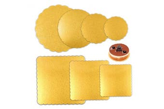 ATPWONZ 7pcs Round and Square Cake Boards 6, 8, 10, 30cm Diameter Sheets for Cake Base