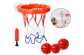 Basketball Hoop Mini Basketball Set for Kids/Little Toddlers Bathroom/Office Toy with Strong Suction Cup Easy to Instal