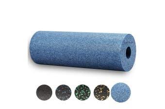 (Cool-Grey-Blue) - BODYMATE 45cm long STANDARD medium-hard smooth foam roller with .