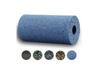 (Cool-Grey-Blue) - BODYMATE 30cm long STANDARD medium-hard smooth foam roller with .