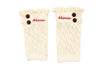 "(Arkansas Razorbacks ""Arkansas"") - ZooZats NCAA Women's Knit Embroidered Boot Cuffs"