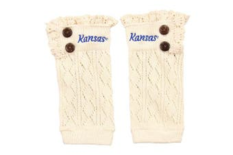 (Kansas Jayhawks) - ZooZats NCAA Women's Knit Embroidered Boot Cuffs
