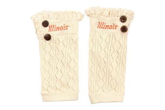 (Illinois Fighting Illini) - ZooZats NCAA Women's Knit Embroidered Boot Cuffs
