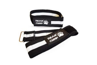 (Black/White, M) - BEAR GRIP - Occlusion Training Bands