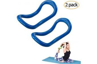 (Blue2) - YNXing Yoga Equipment Yoga Ring Pilates Ring Fitness Circle Training Resistance Support Tool Calf Massage Home Training