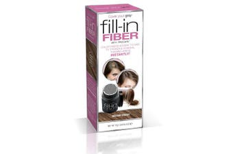 Cover Your Grey Pro Fill-In Fibres with Procapil - MEDIUM BROWN: Hair Fibres for Thinning Hair, Hair Powder for Bald Spots, Baldness Cover up, Beard Filler, Hair Thickener, Hair Thickening