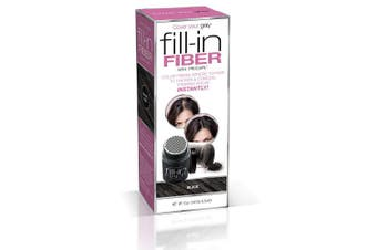 Cover Your Grey Pro Fill-In Fibres with Procapil - BLACK: Hair Fibres for Thinning Hair, Hair Powder for Bald Spots, Baldness Cover up, Beard Filler, Hair Thickener, Hair Thickening