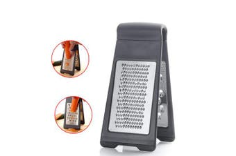 Stainless Steel Grater Multi-Functional Double-Sided Standing Grater for Cheese Fruit Vegetables