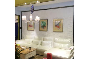 Ekena Millwork WP12X12OSWH W x 30cm H Oslo EnduraWall Decorative 3D Wall Panel, White