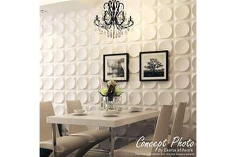 Ekena Millwork WP12X12SKWH 30cm W x 30cm H Sellek EnduraWall Decorative 3D Wall Panel, White
