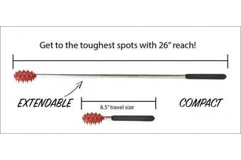 (Stick, Red) - Cactus Back Scratcher On a Stick (Red) | 70cm Sturdy Metal Retractable Back Scratcher | 2 Sides: Aggressive and Soft Spikes | Scratching Stick: Perfect for Men or Women, Great Office Gift …
