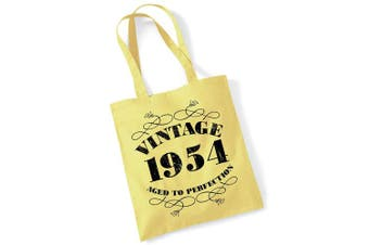 (Lemon) - 65th Birthday Gifts for Women Men Vintage 1954 Funny Tote Bags Present