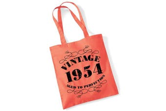 (Coral) - 65th Birthday Gifts for Women Men Vintage 1954 Funny Tote Bags Present