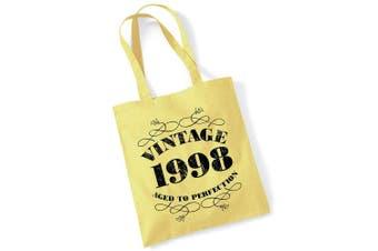 (Lemon) - 21st Birthday Gifts for Women Men Vintage 1998 Funny Tote Bags Present