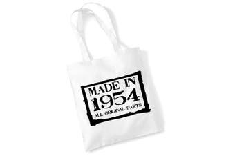(White) - 65th Birthday Gifts for Women Men Made in 1954 Funny Tote Bags Present