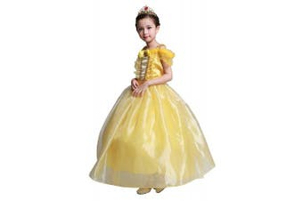 (5 Years) - Lito Angels Girls Princess Belle Costume Princess Dress Halloween Party Fancy Dresses Size 5 Years