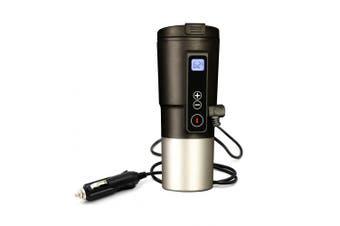 (Black) - Topwon 12V Smart Milk Bottle Warmer for Car,Temp Control and Display Smart Coffee Mug Car Heating Cup (Black)