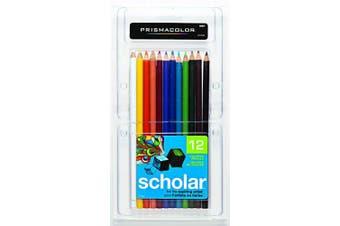 Prismacolor 92804 Scholar Coloured Pencils, 12-Count