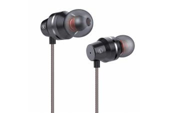 (Black-V) - Earphones Stereo in Ear Earbuds with Mic Bass Headphones with Microphone and Volume Control 3.5 mm Plug Compatible Multiple Audio Devices 1.2m Black
