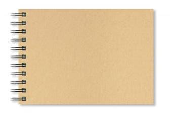 (A5 Landscape) - Artgecko Krafty Sketchbook (A5 Landscape) - 80 Pages (40 Sheets) 150gsm Acid Free White Cartridge Paper