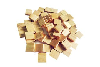 Abbaoww 100Pcs Blank Wood Scrabble Tiles for Craft, Decoration, Altered Art and Laser Engraving Carving