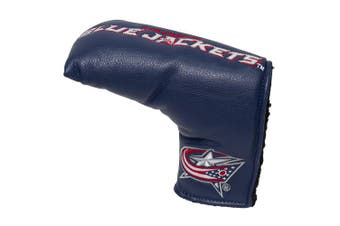 (Columbus Blue Jackets) - Team Golf NHL Golf Club Vintage Blade Putter Headcover, Form Fitting Design, Fits Scotty Cameron, Taylormade, Odyssey, Titleist, Ping, Callaway