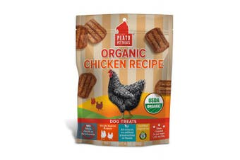 (180ml) - PLATO Dog Treats - Organic Chicken Real Strips