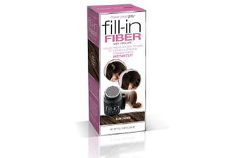 Cover Your Grey Pro Fill-In Fibres with Procapil - DARK BROWN: Hair Fibres for Thinning Hair, Hair Powder for Bald Spots, Baldness Cover up, Beard Filler, Hair Thickener, Hair Thickening