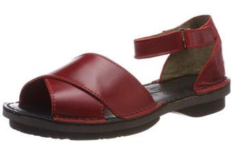 (4 UK, Red (Red/Red 001)) - Fly London Women's Fiol475fly Ankle Strap Sandals