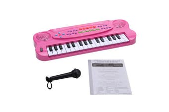 (Pink) - WITKA 32 Keys Kids Piano Multi-Function Electronic Keyboards with Microphone (Pink)
