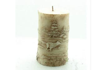 (Wolf) - GreatMold Animal 3D Wolf Cylinder Candle Mould Silicone Soap Candle Moulds Polymer Clay Craft Handmade Resin Mould