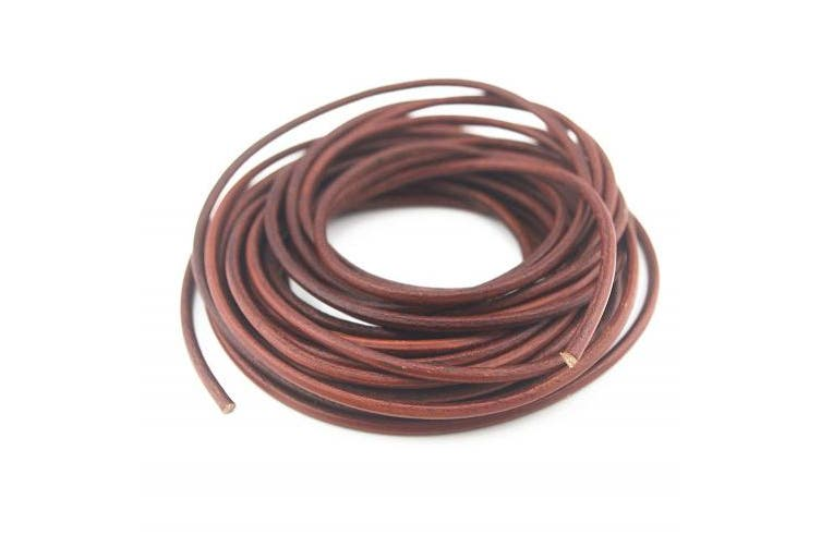 (4mm 10 Yards) - Glory Qin Soft Round Genuine Jewellery Leather Cord Leather Rope (4mm 10 Yards)
