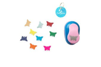 (Butterfly) - Carykon 2.5cm Clever Lever Craft Punch - Paper Cutting Shape (Butterfly)