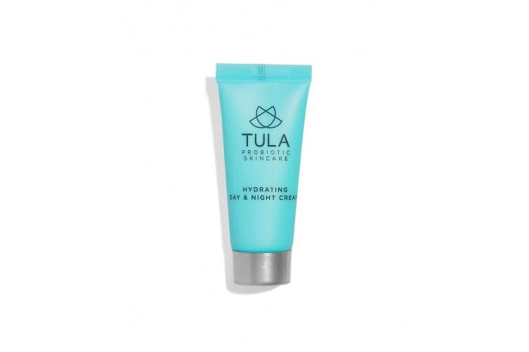 (14g) - TULA Probiotic Skin Care Hydrating Day and Night Cream (Travel-Size) | Moisturiser for Face, Anti Ageing Face Cream, Contains Watermelon Fruit and Blueberry Extract |15ml