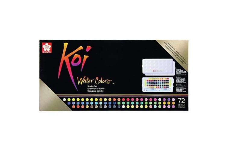 (72 colours, Koi Studio Watercolor Set) - Sakura XNCW-72N Studio Watercolour Set, 72 Colours, Assorted