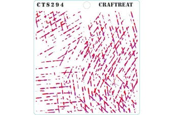 """(Scratches 6""""X6"""") - CrafTreat Pattern Stencils for Painting on Wood, Canvas, Paper, Fabric, Floor, Wall and Tile - Scratches - 15cm x 15cm - Reusable DIY Art and Craft Stencils - Concrete Stencils Patterns"""