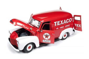 1948 Chevrolet Panel Delivery Truck Texaco Red Limited Edition to 1,002 Pieces Worldwide 1/18 Diecast Model Car by Autoworld AW248