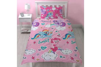 My Little Pony Cupcake Single Duvet Cover and Pillowcase Set