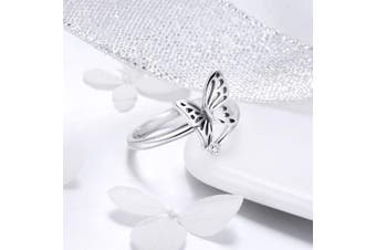 (butterfly) - CHENGMEN Mother's Day 5 Style Open Ring 925 Sterling Silver Cute Adjustable Rings for Women Birthday Anniversary Promise Jewellery