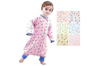 (2-3Year, Pink Mushroom With Legs(spring/Autumn)) - Beyond Your Thoughts Baby 100% Cotton Wearable Blanket Baby Sleeping Bag Spring/Autumn/Winter (3mos-6.5year)