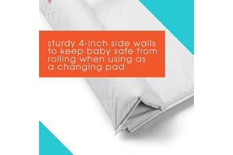 (Convertible) - Summer 2-in-1 Convertible Changing Pad & Mat